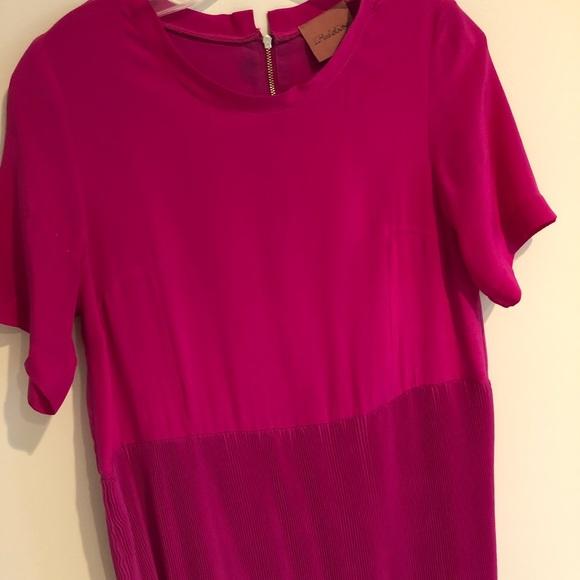 i.madeline Dresses & Skirts - Magenta Silk Babydoll Dress